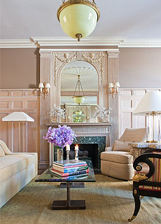 "Modern furniture complements Italian Renaissance Revival architecture at ""The Apthorp"" NYC New York"