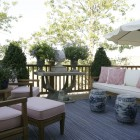 Patio seating, Thomas Burak Interiors, NYC New York