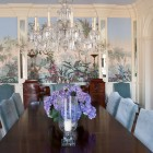 Dining room with wall murals