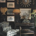 Living room with European antiques