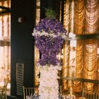 Architectural arrangement of orchids by Thomas Burak, NYC